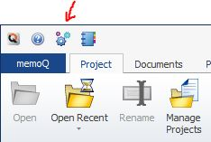 the Options icon in memoQ 2014 R2