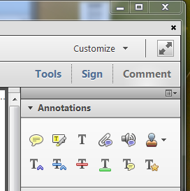 "Acrobat's ""Comments"" panel"